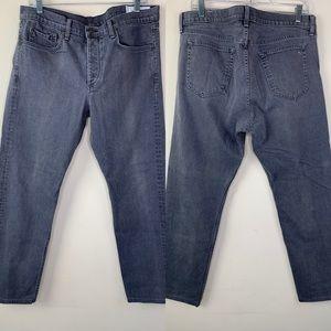 Rag & Bone Slim Fit 2 Gray Button Fly Jeans, 36